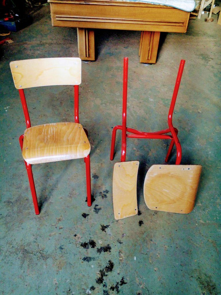 Comment Renover Une Chaise Ecolier Vintage Tendance Indus